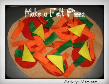 Make a felt pizza