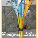 Handprint Lillies ~ Mothers Day Craft