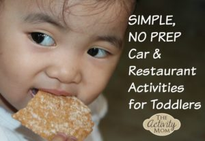 Simple Car and Restaurant Activities for Toddlers