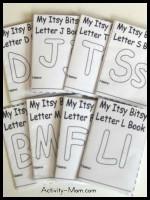 Itsy Bitsy Printable Letter Books
