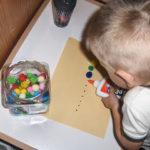 Pom Pom Caterpillar – More Practice with Glue