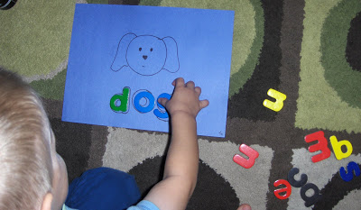 Spelling with Magnetic Letters