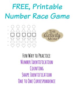 Printable Number Race Game