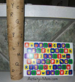 Paper Towel Tube Letter Matching