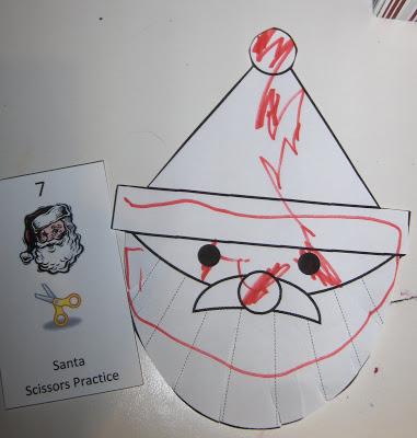 Santa Scissors Practice