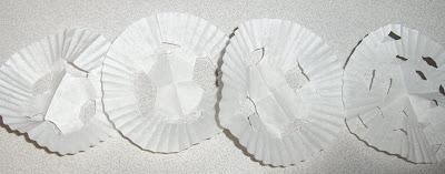 Snowflakes using Cupcake Liners