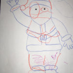 Printable Trace and Color Santa