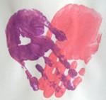Baby Activity – Valentine Handprint Keepsakes