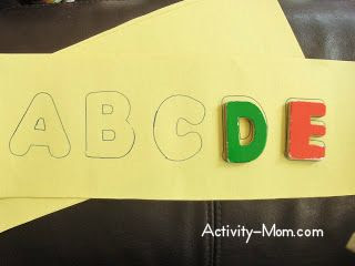 Puzzle using Magnetic Letters