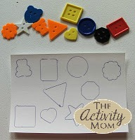 DIY puzzle using buttons