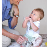 Baby Activity – Flour and Feathers