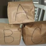 Paper Bag Letter Blocks