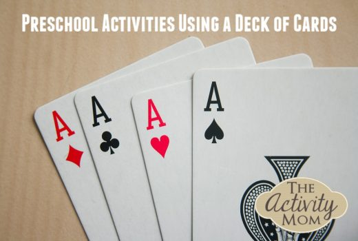 Preschool Activities Using a Deck Cards