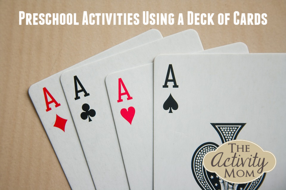 Preschool Activities Using a Deck Cards