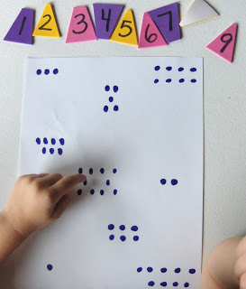 Counting with Foam Stickers