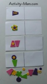 Foam Shape Sticker Puzzles