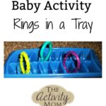Baby Activity – Rings and an Ice Cube Tray