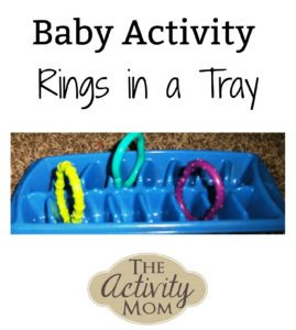 baby activity rings in a tray