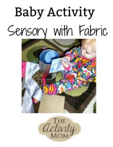 baby activity sensory with fabric logo