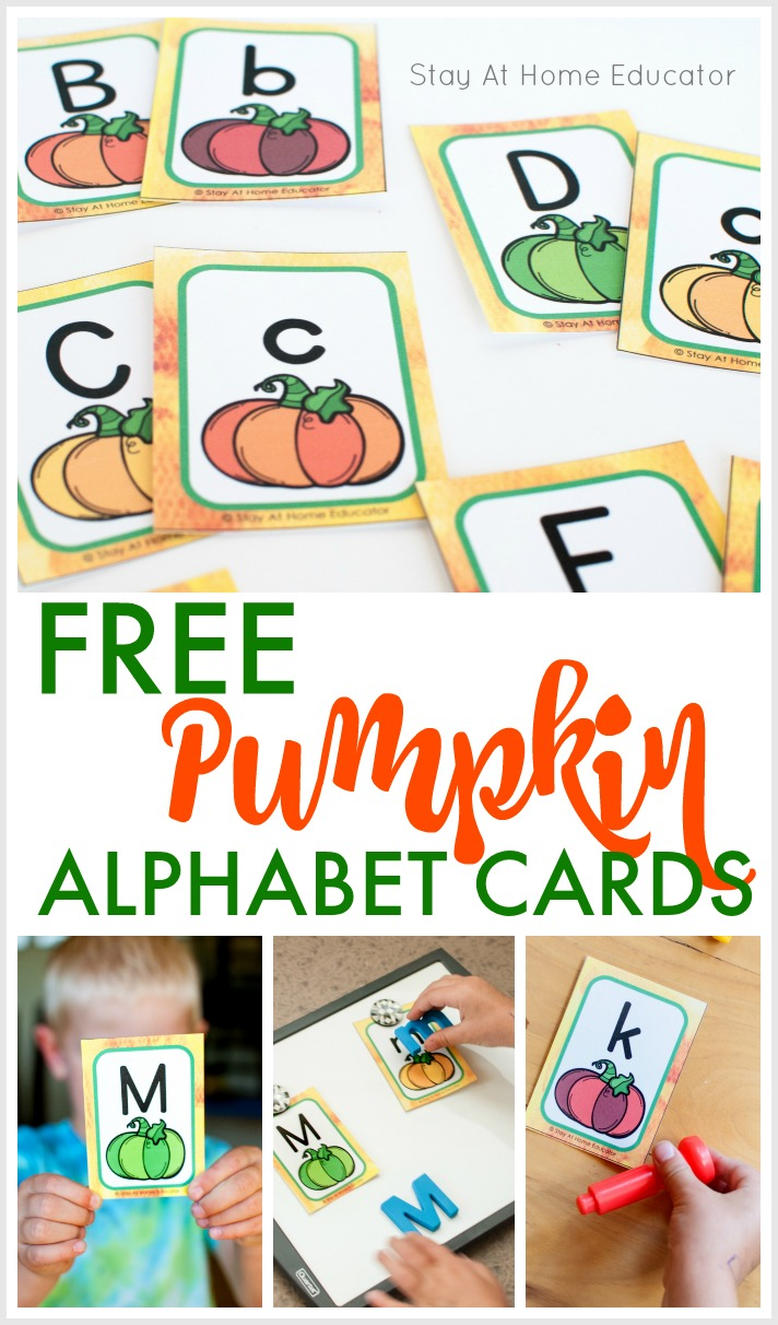 Pumpkin Alphabet Cards
