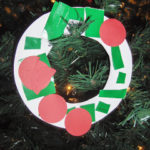 Rip and Glue Paper Plate Wreath