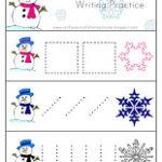 Snowman Writing Practice (printable)
