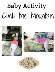 baby activity climb the mountain