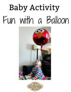 baby activity fun with a balloon