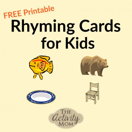 Rhyming Cards for Kids Inspired by Dr. Seuss FREE Printable