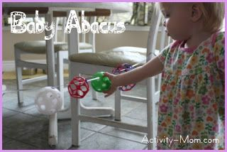 Baby Activity – Baby Abacus (diy)