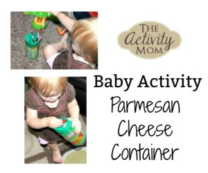 baby activity parmesan cheese container