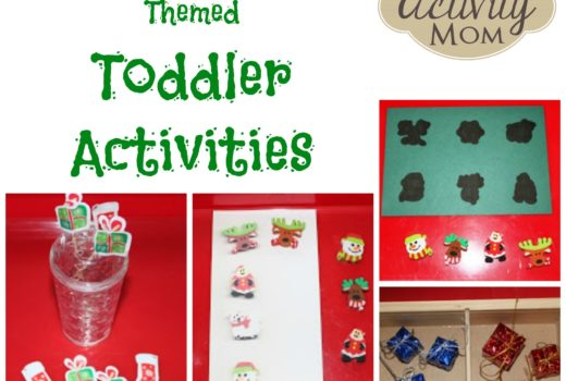 Christmas Activity Tray Ideas for Toddlers