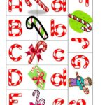 Candy Cane Letters (printable)