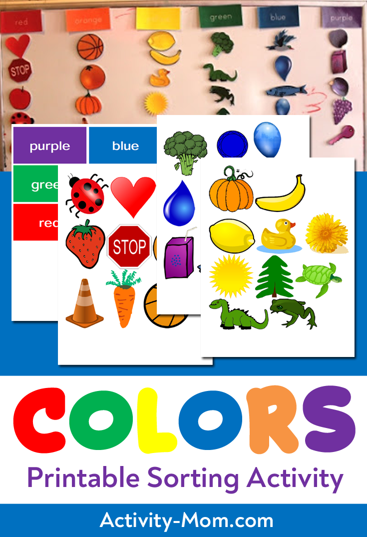 The Activity Mom Color Sorting Printable