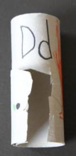 Toilet Paper Roll Alphabet Crafts – D is for Door