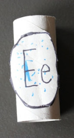 Toilet Paper Roll Alphabet Crafts – E is for Egg