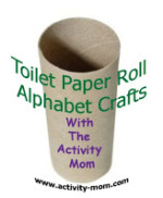 Toilet Paper Roll Alphabet Crafts – A is for Alligator