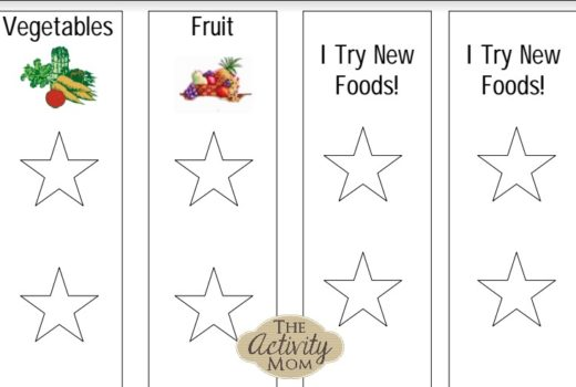 Printable Picky Eaters Chart