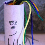 Toilet Paper Tube Crafts – H is for Hair