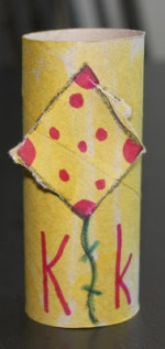 Toilet Paper Tube Crafts – K is for Kite