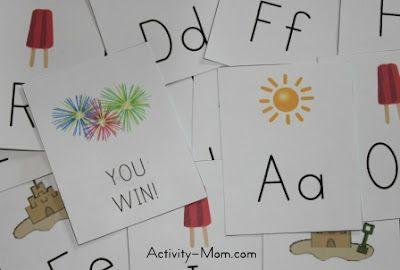 Summer Alphabet Game (printable)