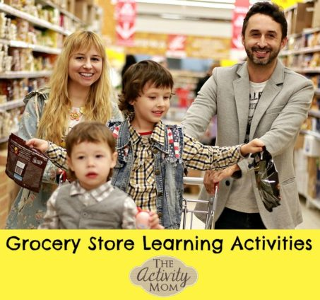 Grocery Store Learning Activities - Make your grocery store trip easier and more fun for you and your kids!