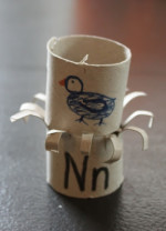 Toilet Paper Roll Alphabet Crafts – N is for Nest