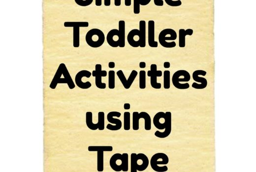 Fun and Simple Toddler Activities Using Tape