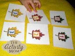 Leaf Number cards