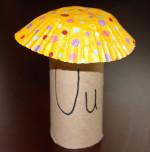 Toilet Paper Tube Alphabet Craft – U is for Umbrella