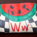 Toilet Paper Tube Alphabet Crafts – W is for Watermelon