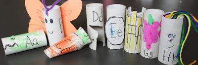 toilet paper tube alphabet crafts