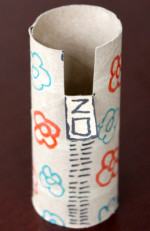 Toilet Paper Tube Alphabet Crafts – Z is for Zipper