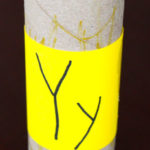 Toilet Paper Tube Alphabet Crafts – Y is for Yellow